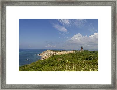 The Cliffs Of Aquinnah Framed Print