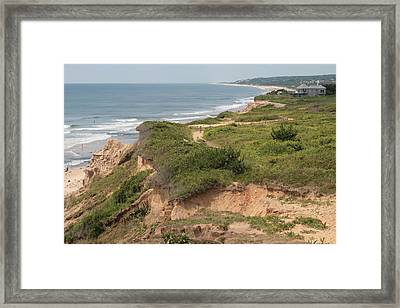 The Cliffs Of Montauk Looking West Framed Print