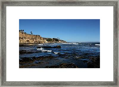 The Cliffs Of Pismo Beach Framed Print by Judy Vincent