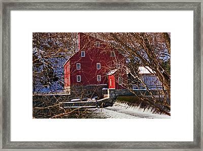 The Clinton Nj Mill Framed Print by Skip Willits
