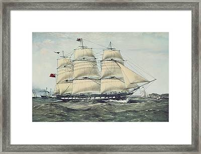 The Clipper Ship Anglesey Framed Print by Anonymous