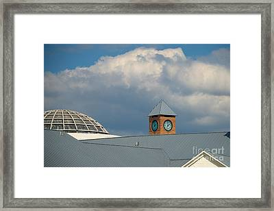 The Clock And The Dome Framed Print