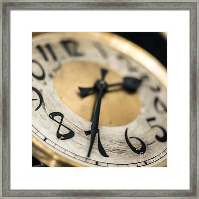 The Clock Framed Print by Hannes Cmarits