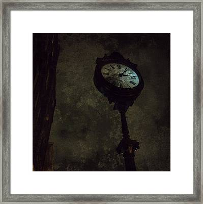 The Clock Of Greenpoint Framed Print by Natasha Marco