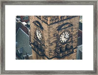 The Clock Tower Of The Sheffield Town Hall. Framed Print