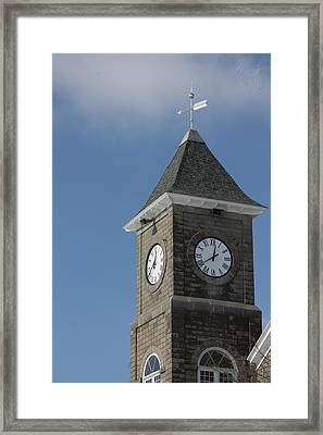 The Clock Tower Framed Print by Rhonda Humphreys
