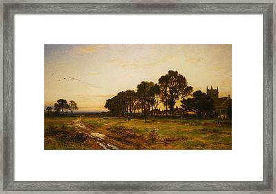 The Close Of Day Worvestershire Meadows Framed Print