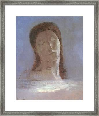 The Closed Eyes, 1890 Framed Print by Odilon Redon