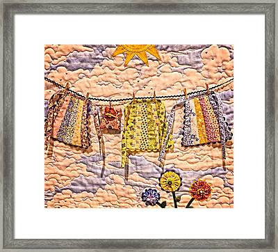 The Clothes Line Framed Print by Image Takers Photography LLC - Carol Haddon