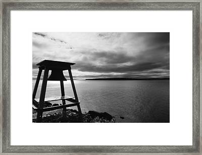 The Cloud And Bell In Acadia National Park Maine Framed Print by Paul Ge