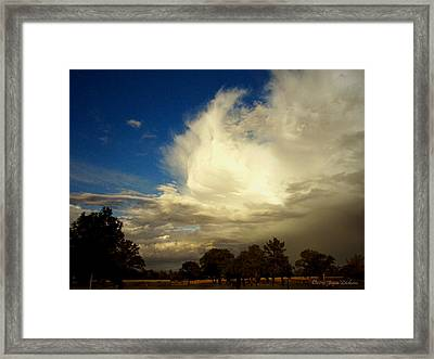 The Cloud - Horizontal Framed Print by Joyce Dickens