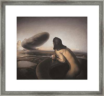 The Cloud Framed Print by Odd Nerdrum