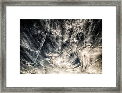 The Clouds Talk Framed Print