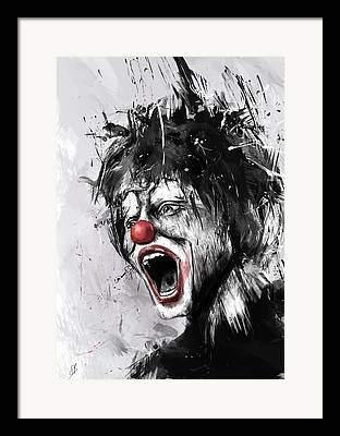 Clown Digital Art Framed Prints