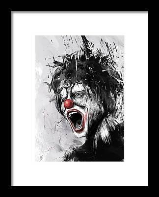Clown Framed Prints