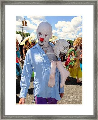 Framed Print featuring the photograph The Clown by Ed Weidman