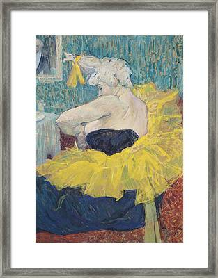 The Clowness Cha-u-kao In A Tutu Framed Print by Henri de Toulouse-Lautrec