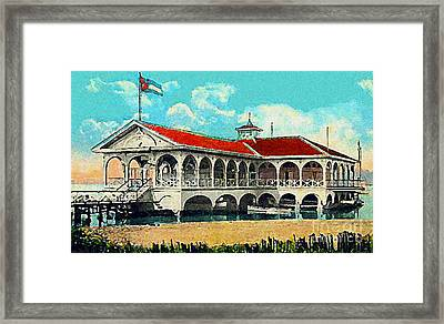 The Club Nautico In Santiago Cuba In 1910 Framed Print