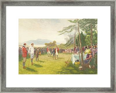 The Clubs The Thing Framed Print by Henry Sandham
