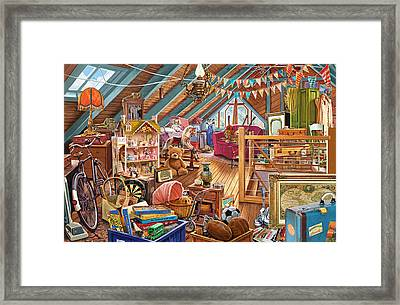 The Cluttered Attic  Framed Print by Steve Crisp