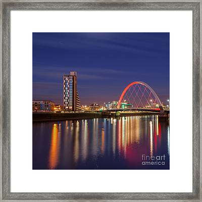The Clyde Arc  Framed Print by John Farnan