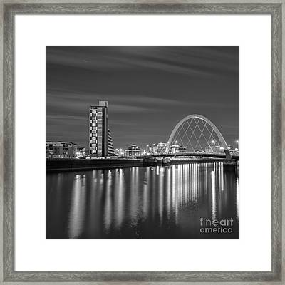 The Clyde Arc Mono Framed Print by John Farnan