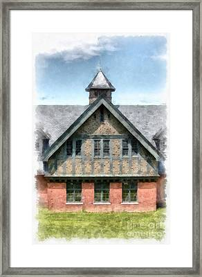 The Coach Barn At Shelburne Farms Framed Print