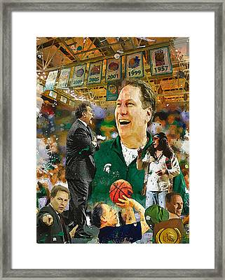 The Coach Tom Izzo Framed Print by John Farr