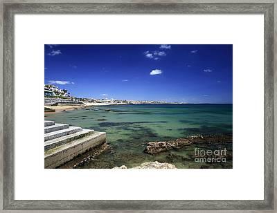 The Coast Of Estoril Framed Print by John Rizzuto