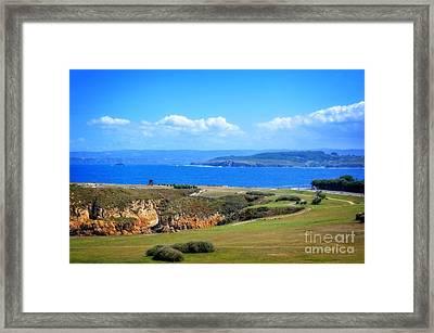 The Coast Of La Coruna Framed Print by Mary Machare