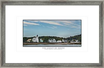 The Coast Of Maine Framed Print