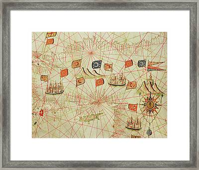 The Coast Of Turkey And Cyprus, From A Nautical Atlas Of The Mediterranean And Middle East  Framed Print