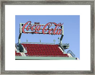 The Coca-cola Corner Framed Print by Susan Candelario