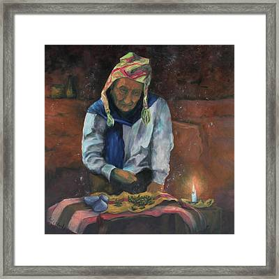 Framed Print featuring the painting The Coca Reader by Carla Woody