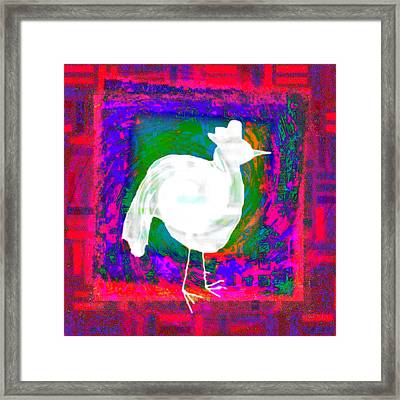 The Cock That Crows In The Morn Framed Print