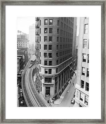 The Cocoa Exchange Building  Framed Print by Underwood Archives