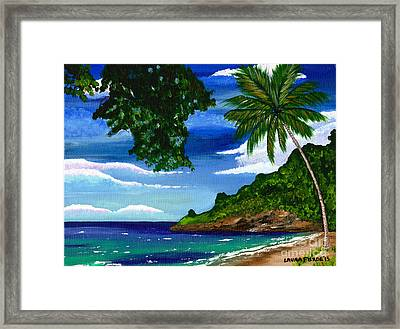 Framed Print featuring the painting The Coconut Tree by Laura Forde