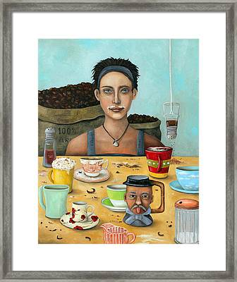 The Coffee Addict Brighter Framed Print by Leah Saulnier The Painting Maniac