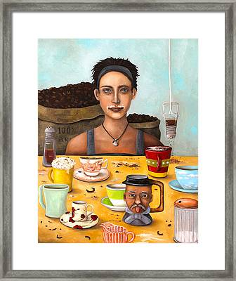 The Coffee Addict Framed Print by Leah Saulnier The Painting Maniac