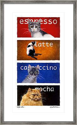 The Coffee Cats... Framed Print
