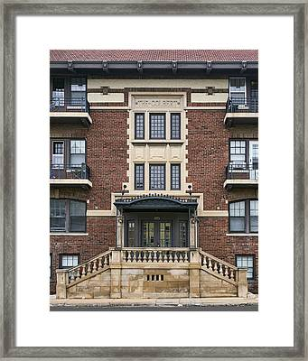 The Colbert - Brick Building - Omaha Framed Print