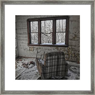 The Cold Remains  Framed Print