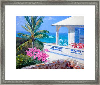The Coleman Cottage Framed Print by Candace Lovely