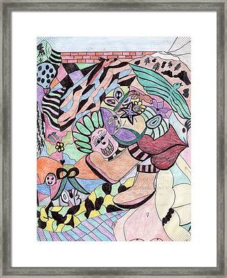 The Collage Framed Print