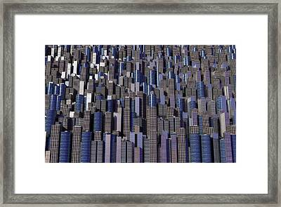 Framed Print featuring the digital art The Collective by Matt Lindley