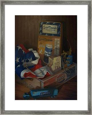 Framed Print featuring the painting The Collector by Tony Caviston