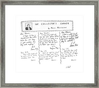 The Collector's Corner Framed Print