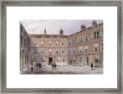 The College Of Advocates, Doctors Commons, 1854 Wc On Paper Framed Print by Thomas Hosmer Shepherd
