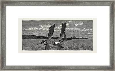 The College Yacht, British Naval Defences Framed Print by Litz Collection