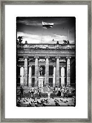 The Colombiana Model Framed Print by John Rizzuto